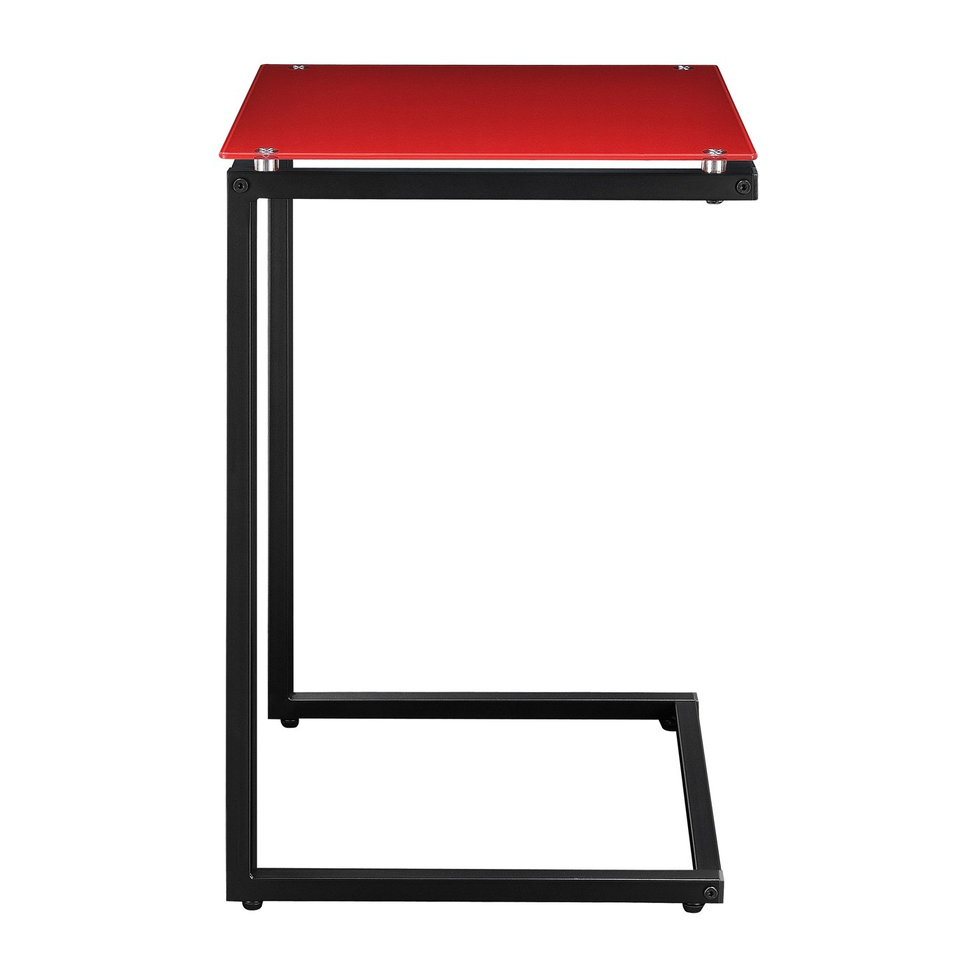 Luxurious C Table From IKEA : Modern C Table Design Red Iron Top Amazing Furniture For Living Room