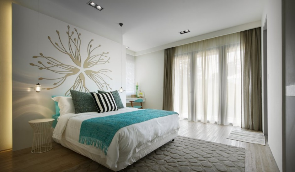 Gorgeous Contemporary Interior Completed Your Home With Nature`s Touch: Modern Chic Bedroom