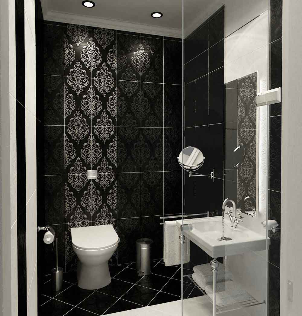 Wonderful Bathroom Tile Design Ideas To Decorate Contemporary Bathroom: Modern Classic Style Bathroom Tile Design Ideas Glass Enclose Shower
