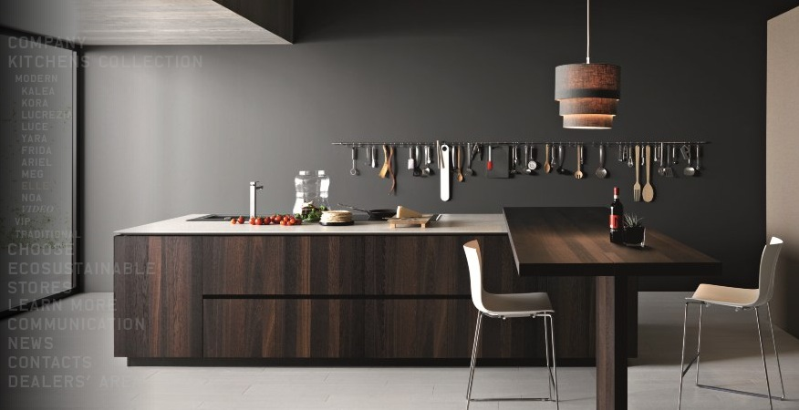 Contemporary Kitchens With Exceptional Ideas: Modern Coffee Kitchen Island