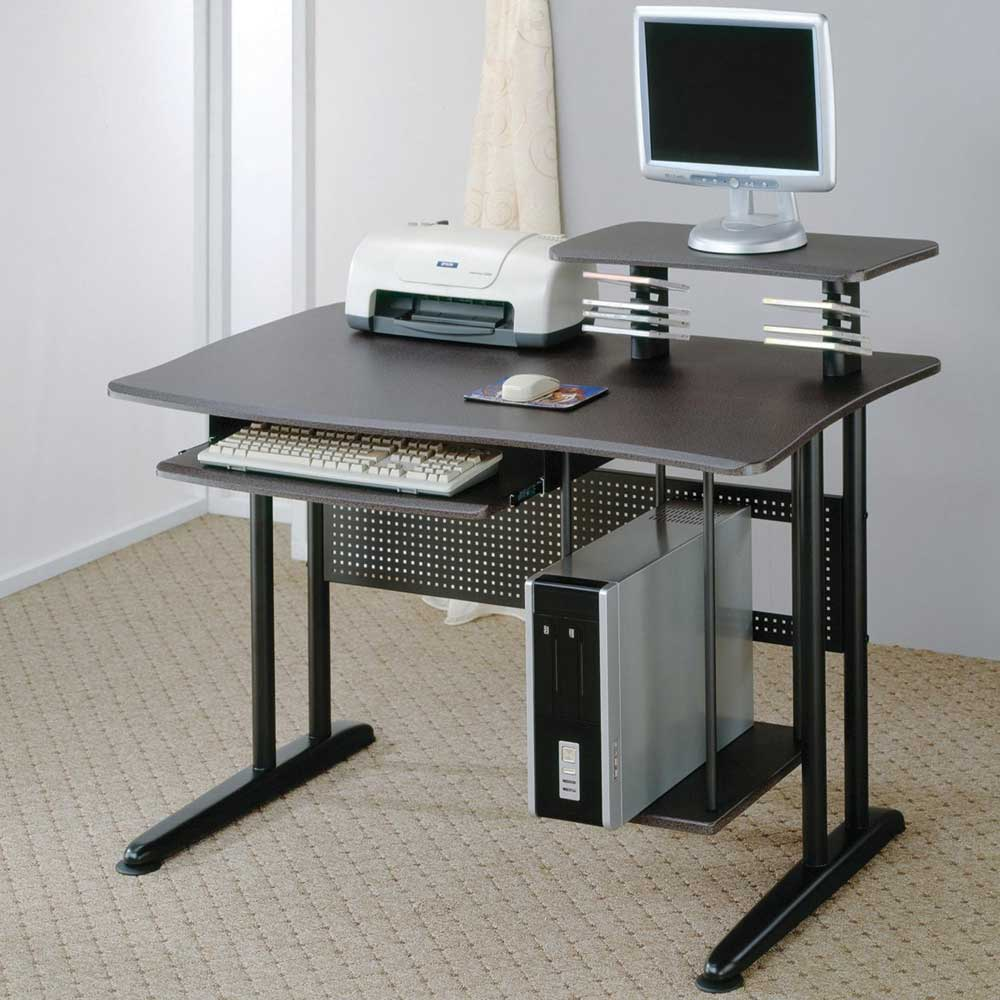 Minimalist Computer Desk For Better Productivity: Modern Computer Desk Furniture With Clear Glass Design For Office Prestige