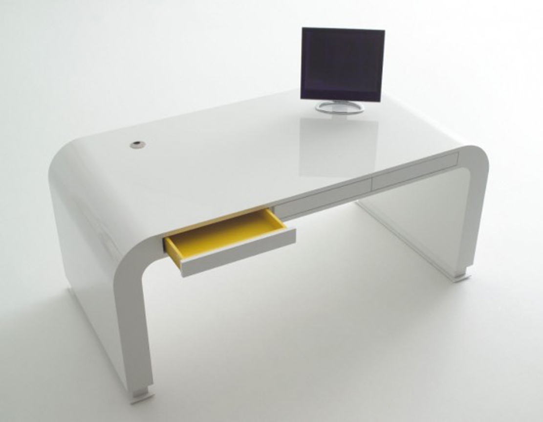 Minimalist Computer Desk For Better Productivity: Modern Computer Furniture Table Designs For Home Modern Minimalist