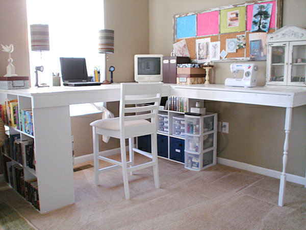 Wall Mounted Desks For Saving Space : Modern DIY Corner Desk
