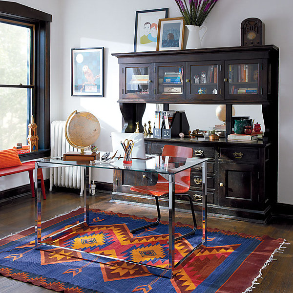 Awesome Home Office Designs Modern Ideas: Modern Eclectic Office Space
