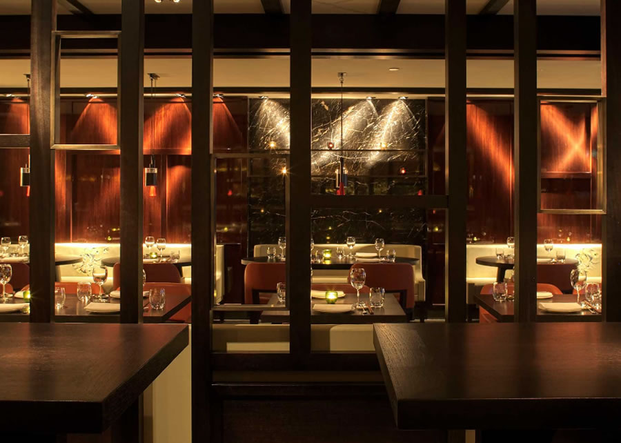 Aesthetic Asian Restaurant Interior Design With Warm Circumstance: Modern Fine Dining Restaurant Hospitality Interior Design Hakkasan Mayfair London UK