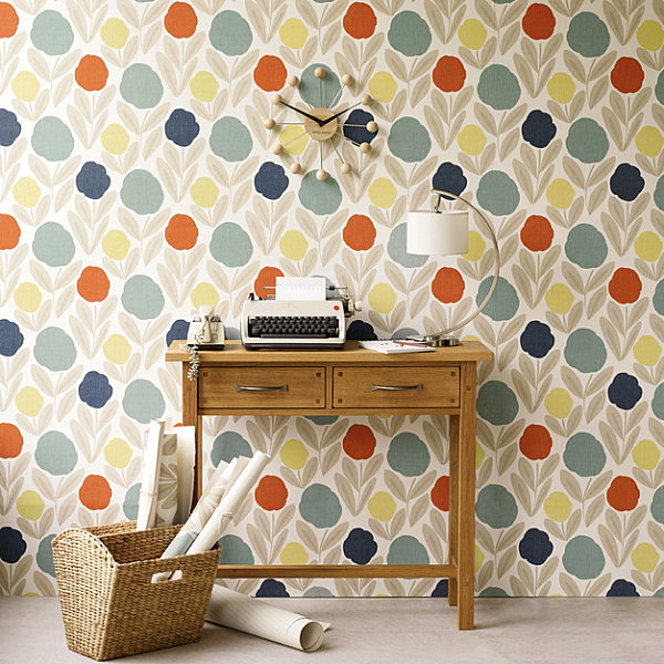 Striking Floral Patterns (12 Ideas) : Modern Floral Wallpaper By Laura Ashley