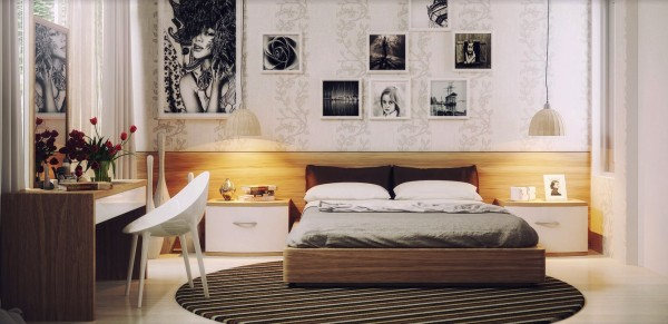 Charming Asian Modern Interiors: Modern Furnishings And Chic Artwork For The Girls Bedroom