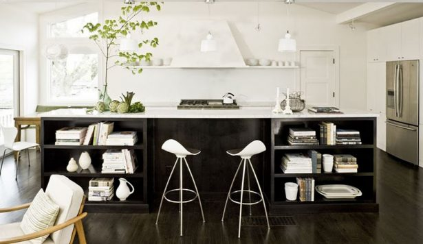 Make A Nice Culinary Space With These Kitchen Designs With Islands: Modern Kitchen With Dark Wood ~ stevenwardhair.com Kitchen Designs Inspiration