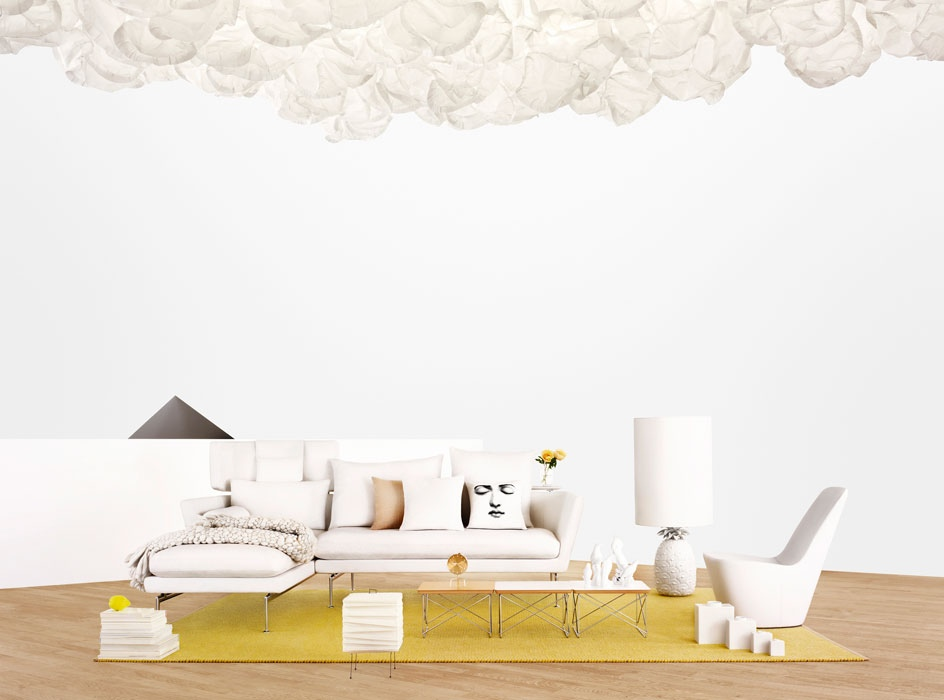 Chic Modern Sofas Ideas: Modern Living Room Suite White Sofa Chaise