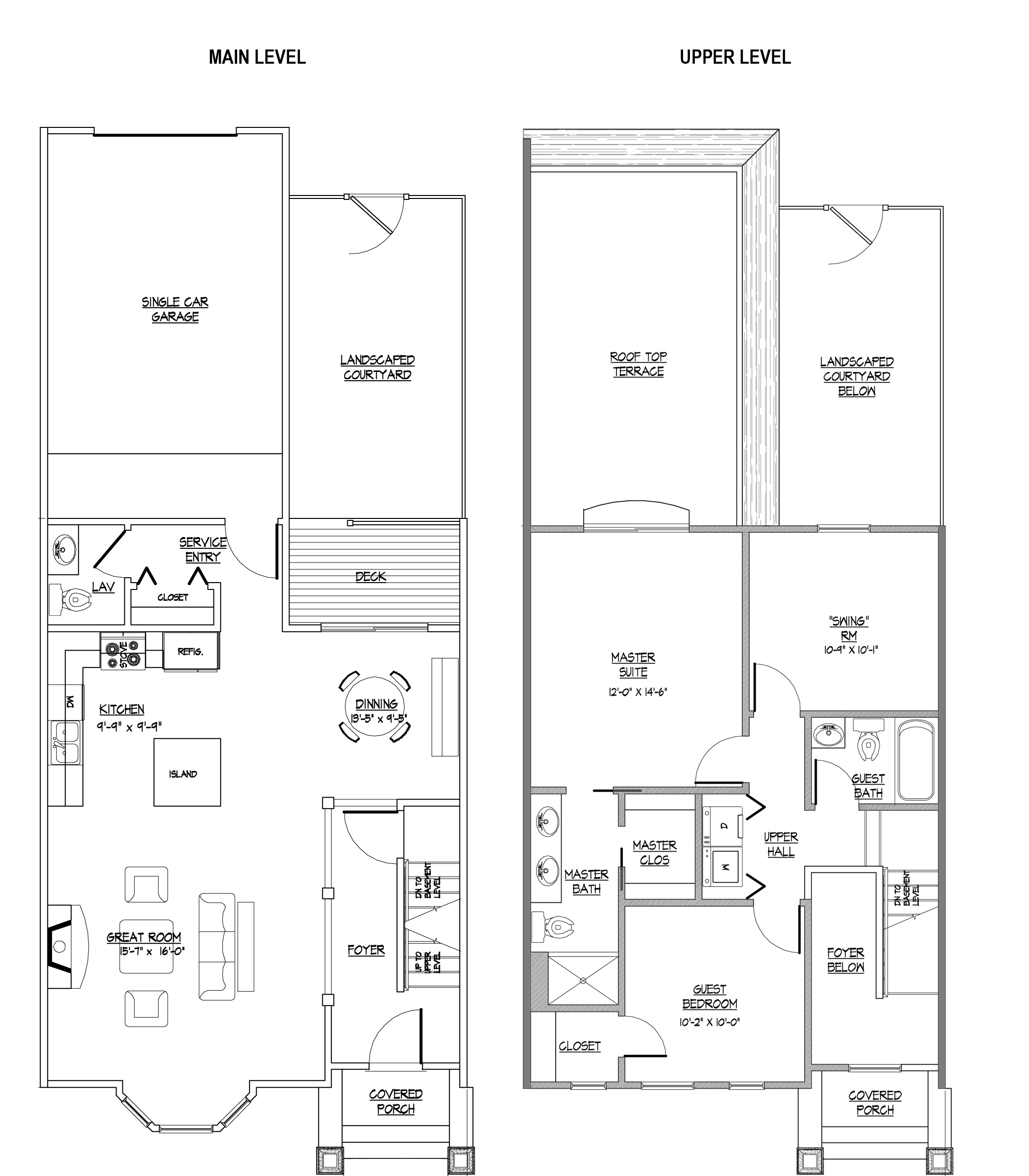Master Suite Floor Plans; Enjoy Comfortable Residence With Master Suite: Modern Main Level An Upper Level Master Suite Floor Plans Ideas