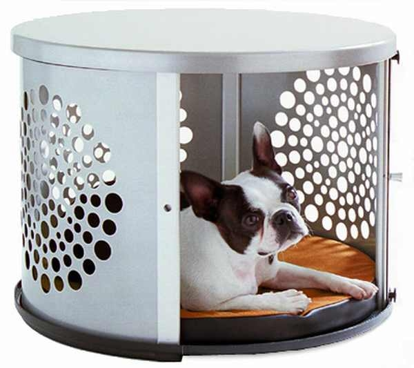 Unique Stylish Pet Furniture And Accessories (20 Pictures) : Modern Metal Doghouse