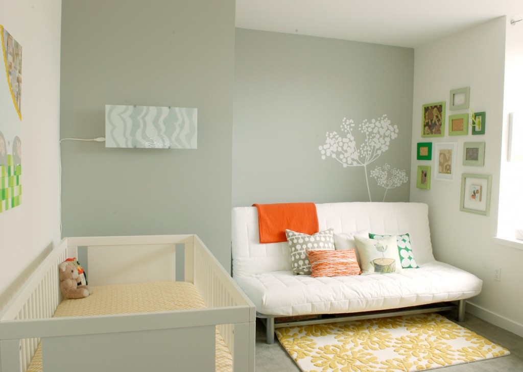 Baby Room Ideas: Welcome To Our Family : Modern Neutral Baby Room Ideas White Sofa Tree Wall Decals