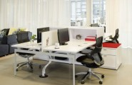 Remarkable Open Office Design Of Portland Based Firm : Modern Office Design Encourages Interactivity Use White Color Desk