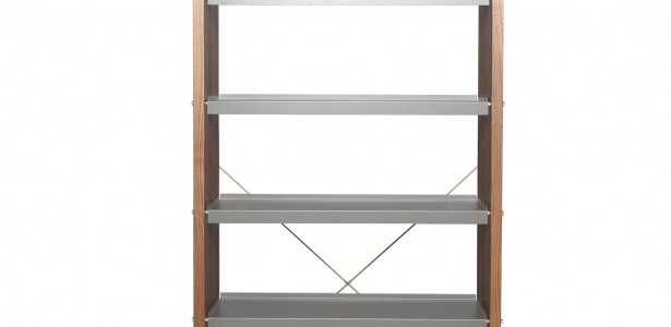 Elegant Modern Shelving To Add Elegant Feeling : Modern Shelving Walnut And Grey
