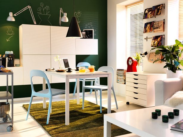 Smarten Your Space With Coffee Table Decorating Ideas: Modern Small Spaces Dining Room Ideas By Ikea ~ stevenwardhair.com Tips & Ideas Inspiration