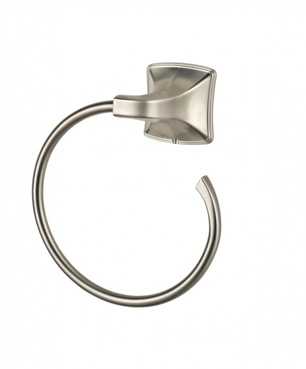 Inspiring Towel Ring Design To Furnish Minimalist Bathroom: Modern Stainless Steel Towel Ring Design Wall Mounted Fitting ~ stevenwardhair.com Bathroom Design Inspiration