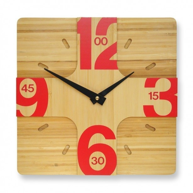 Great Wall Decoration For Contemporary House: Modern Stylish Wooden Wall Hanging Clock ~ stevenwardhair.com Design & Decorating Inspiration