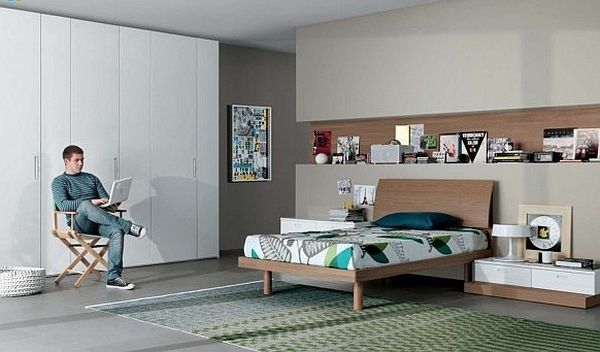 Fantastic Teen Rooms Designs Teenagers Will Love: Modern Teenagers Room Neutral Colors Furniture