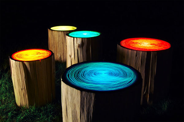 Encouraging Reclaimed Wood Stumps : Modern Tree Trunks Uses 1