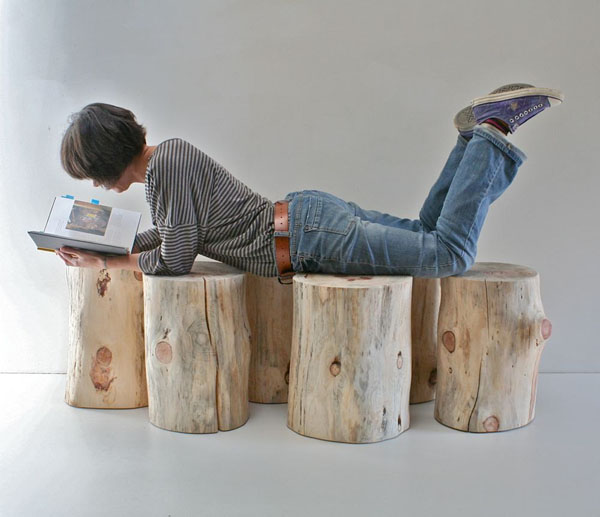 Encouraging Reclaimed Wood Stumps: Modern Tree Trunks Uses 6