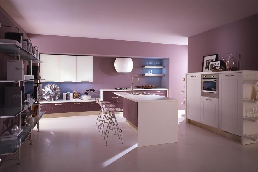 Kitchen Designs: Modern Violet And Pink Kitchen By Cucine Lube ...