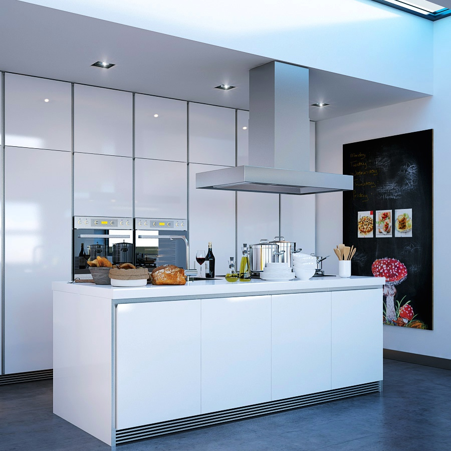 Make A Nice Culinary Space With These Kitchen Designs With Islands : Modern White Kitchen Island