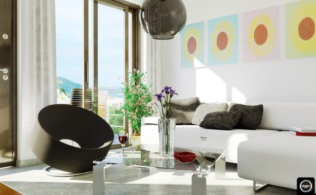 Exclusive Stunning White Living Rooms Ideas: Modern White Living Room Colorful Accent Art ~ stevenwardhair.com Living Room Design Inspiration