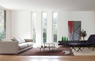 Simple Smart Tips Of Cleaning Indoor And Outdoor Window : Modern Windows In The Living Room