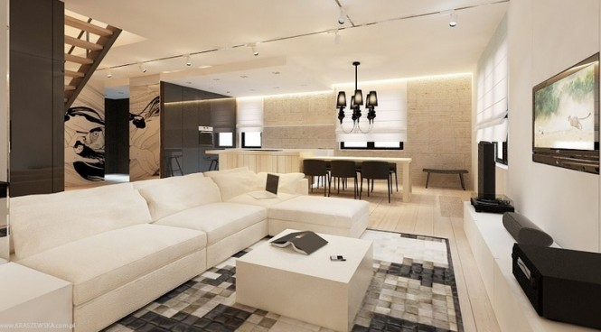 Perfect Interior Design Idea For Our Design Space: Monochrome Home Decor Modern Interior Furniture Resplendent Design