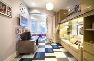 20 Contemporary Ideas Of Enchanting Adult Loft Beds : Narrow Loft Bed With Seating Underneath