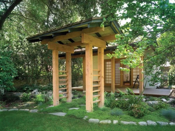28 Fascinating Japanese Garden Design Ideas: Natural Looking Archway Brings Home The Japanese Garden Atmosphere With Ease ~ stevenwardhair.com Terrace & Garden Inspiration
