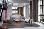 Casual Modern Living Rooms Featuring Minimalist Furniture : Neutral Modern Living Room1