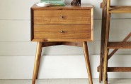 Vintage Bedroom Review As Furniture For 1950`s : New Wooden Nightstand With Mid Century Modern Style Decorated With False Owl