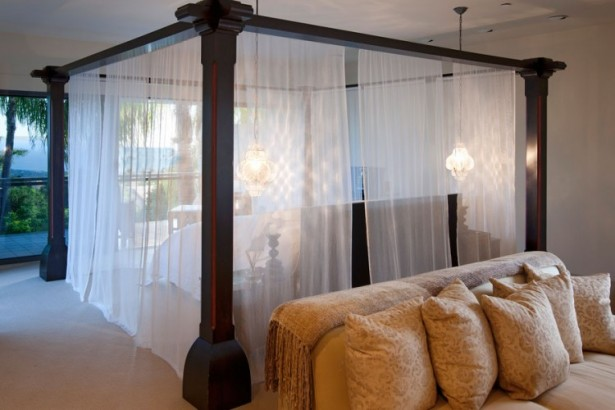 Nice Sheer Curtain Design In The Bed At Buena Vista Drive
