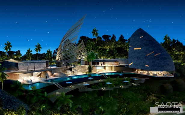 Interesting And Beautiful House Architecture Comes With The Great Idea: Night Overview Beautiful House Architecture ~ stevenwardhair.com Architecture Inspiration