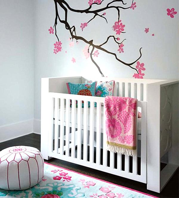 Creative Nursery Decor Ideas For Baby`s Real Comfort: Nursery Mural Design Ideas