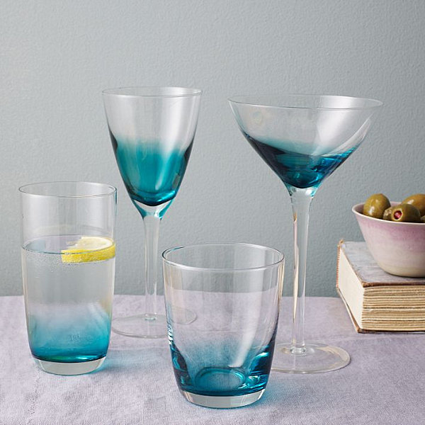 Cheerful Table Decor For Your Outdoor Enjoyment : Ombre Glassware