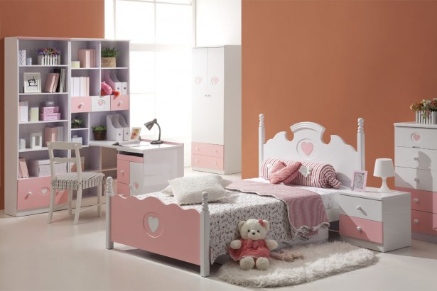 Colorful Kids Bedroom Ideas In Small Design: Orange Children BedroomInterior Kids Bedroom Ideas Small White Bunk ~ stevenwardhair.com Kids Room Inspiration