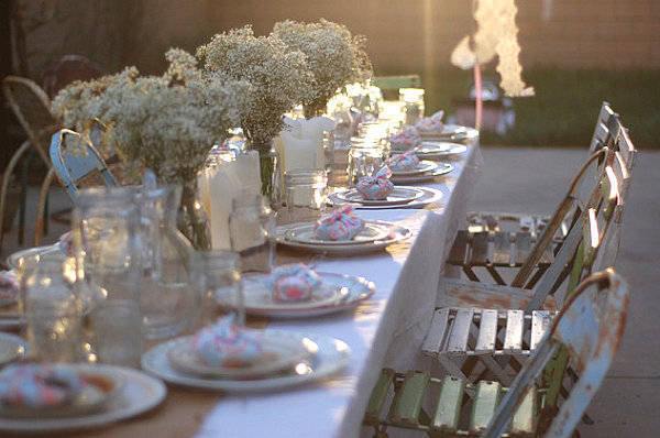 Bright Spring Party: 20 Lively Ideas : Outdoor Candlelight Party
