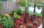 Interesting Outdoor Home Brings The Unusual Moment : Outdoor Home Red Mulch