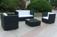 Wicker Outdoor Furniture: Choosing The Right One : Outdoor Rattan Garden Sofa Leisure Patio Wicker Furniture HS
