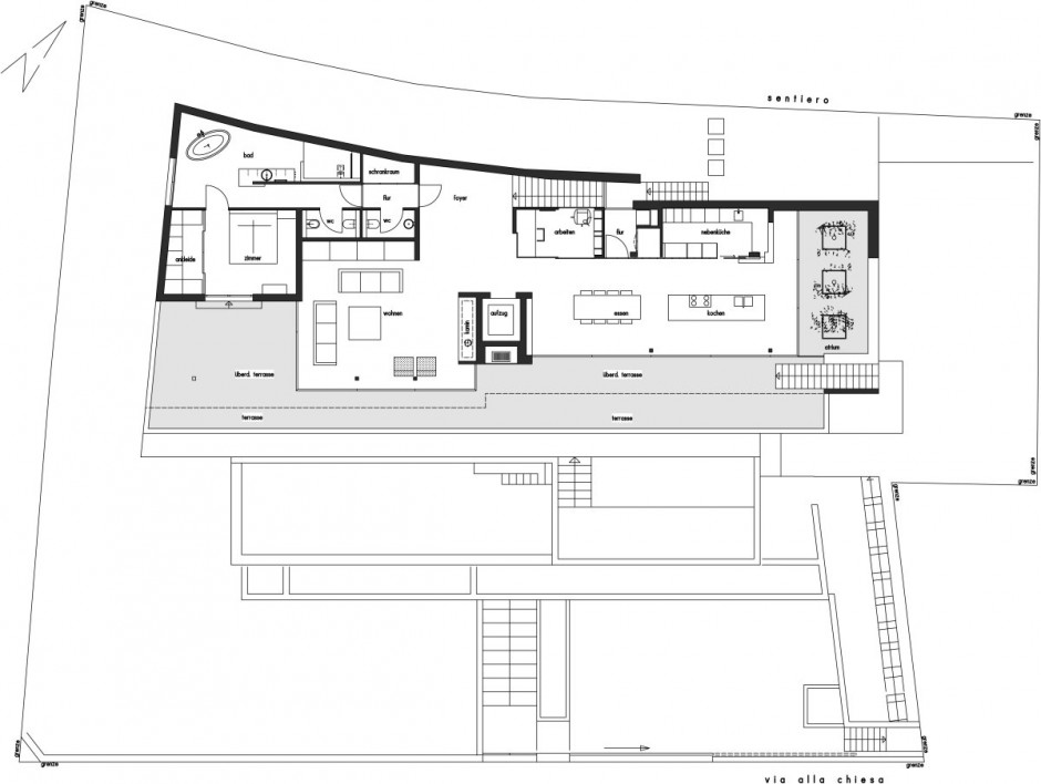 Amazing Luxury Home Ideas For Stunning Look In White Theme : Overall Floor Plan Project Of Modern House Lombardo Picture