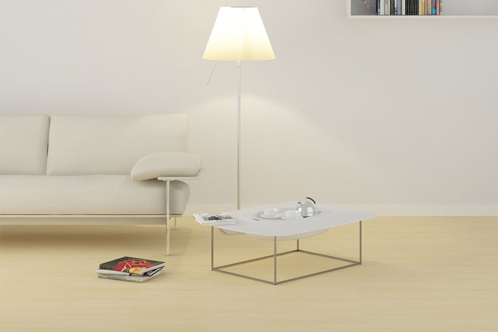 Smarten Your Space With Coffee Table Decorating Ideas: Pandora Elegant Coffee Table With Hidden Storage