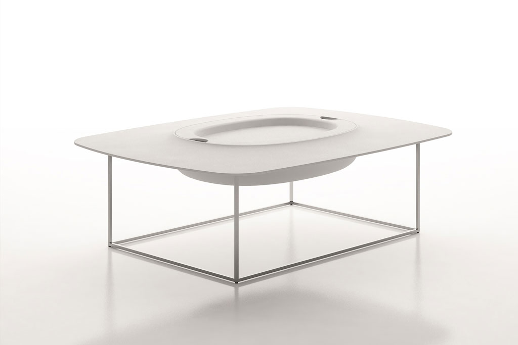 Pandora White Coffee Table With Hidden Storage