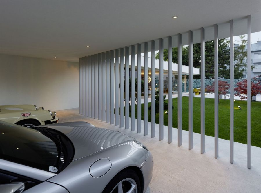 Contemporary Home Design: The A&B House In Austria : Parking Area Built Into The Home