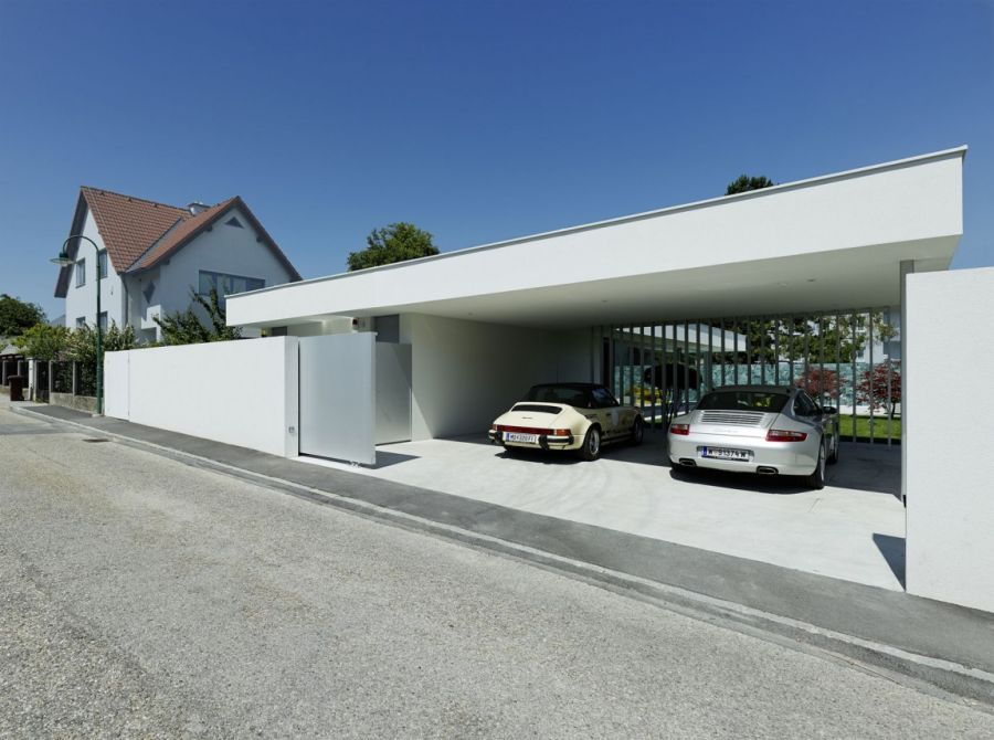 Contemporary Home Design: The A&B House In Austria: Parking At The Austrian Home
