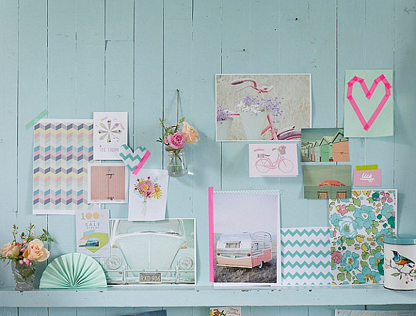 Artistic Pastel Color Palette Decoration: Pastels With Neon Accents