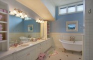 Kids Bathroom Design With Fun Ideas : Perfect And Ergonomic Design Inspiration For Girls Bathroom