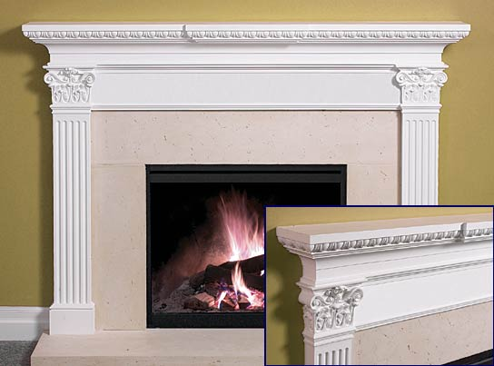 Fireplace Mantel Kits Ideas : Piece Of Fireplace Mantel Kits
