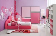 Cute Tween Girl Bedroom Ideas With Lively Color Scheme : Pink Purple Tween Teen Girls Room Decor